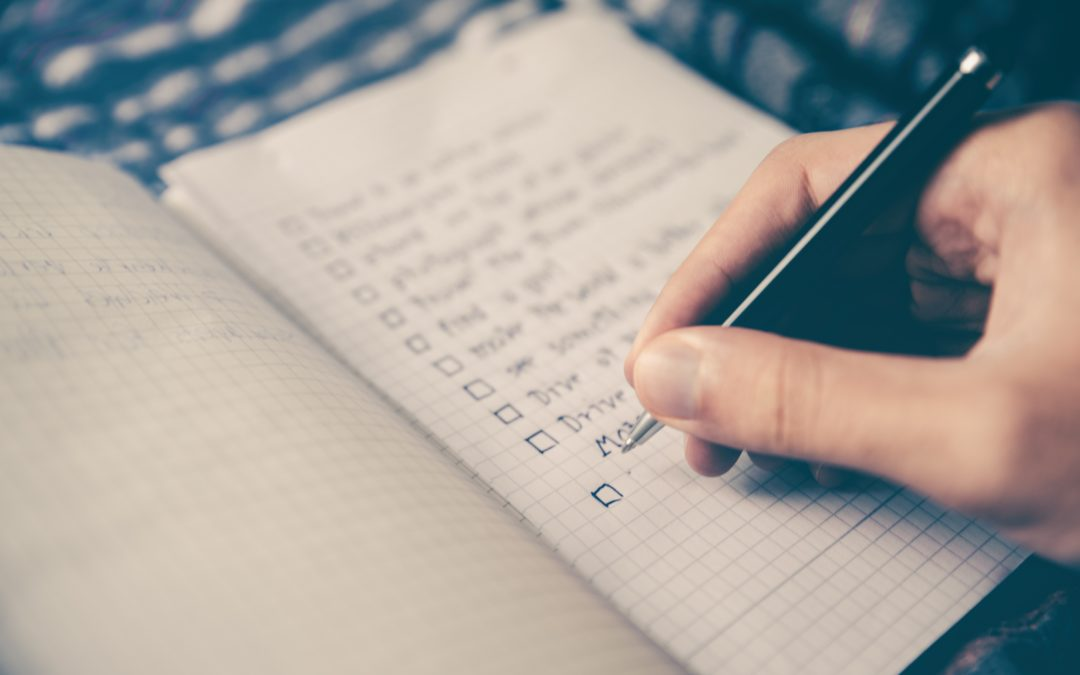 notebook checklist